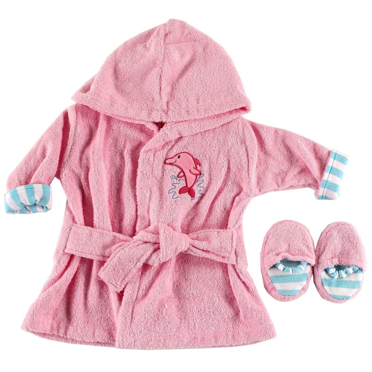 Amazon.com: Luvable Friends Sea Character Bath Robe with Slippers ...
