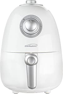 Brentwood Appliances AF200W 2-Quart Small Electric Air Fryer with Timer and Temperature Control (White), One Size