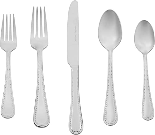 AmazonBasics 20-Piece Stainless Steel Flatware Silverware Set