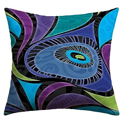 Deny Designs Gina Rivas Design Feather Eye Outdoor Throw Pillow, 26 x 26