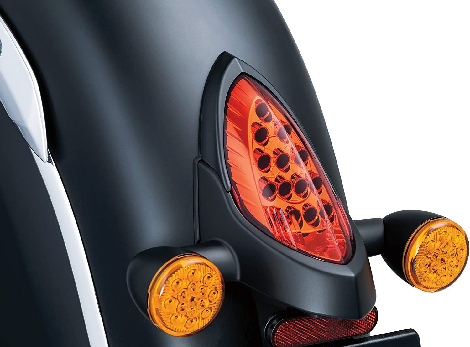 Satin Black Kuryakyn 5623 Motorcycle Accessory Taillight Top Trim Accent for 2014-2019 Indian Motorcycles