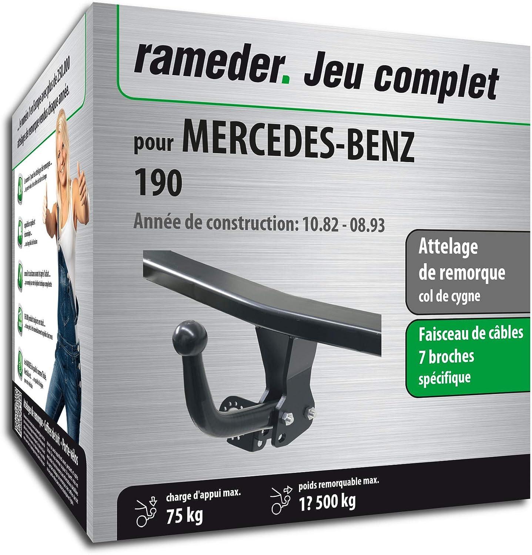 Faisceau 7 Broches 133852-00052-1-FR Rameder Attelage d/émontable avec Outil pour Mercedes-Benz 190