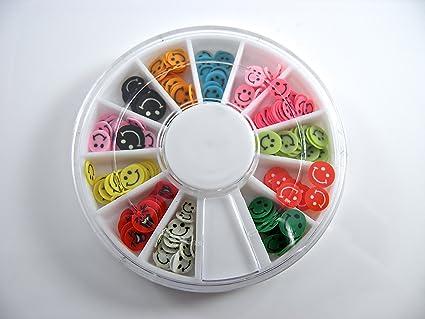 Desire 120 Piezas Color Caritas Sonrientes Nail Art Falso