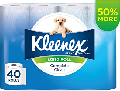 KLEENEX Complete Clean Long Roll Toilet Paper (40 rolls x 270 sheets)