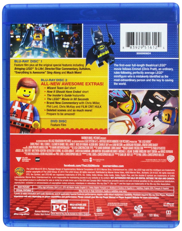 the lego movie blu ray dvd