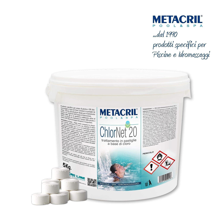 Cloro Pastillas Piscina 5 kg.- Chlor Net 20 5 kg. Tricloro 90/20 ...