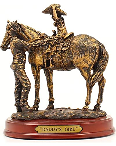 Western Moments Unisex Daddy s Girl Statue Brown One Size