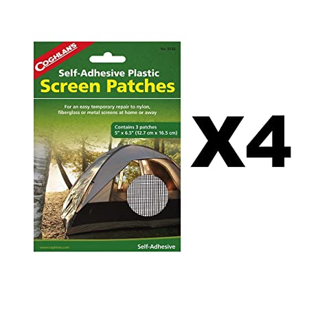 Coghlanu0027s Screen Patches Self-Adhesive Tent Repair Kit 5u0026quot;x6.5u0026quot; (  sc 1 st  Amazon.com & Amazon.com: Coghlanu0027s Screen Patches Self-Adhesive Tent Repair Kit ...