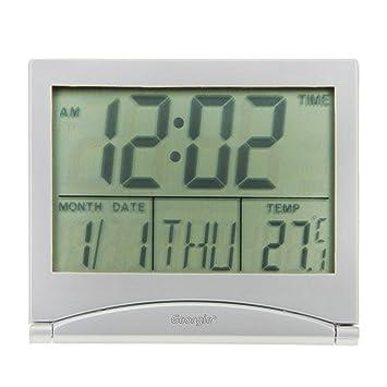 Despertador digital electrónicos cuadro radio-reveil luminoso fluorescente la alarma reloj despertador Original LED con subrayador: Amazon.es: Hogar