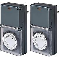 Brennenstuhl Timer MZ 44, mechanische timer stopcontact (dag-timer, IP44 beschermd, met verhoogde bescherming tegen…