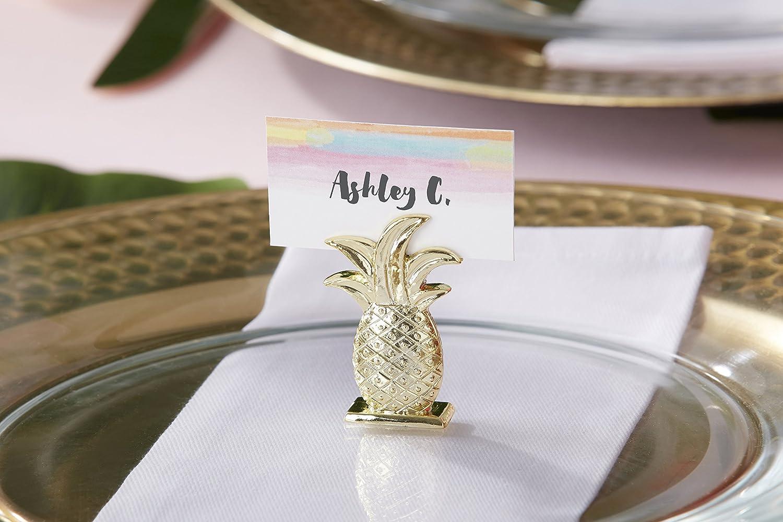 Amazon.com: Kate Aspen Gold Pineapple Bottle Stopper, Party Favor ...