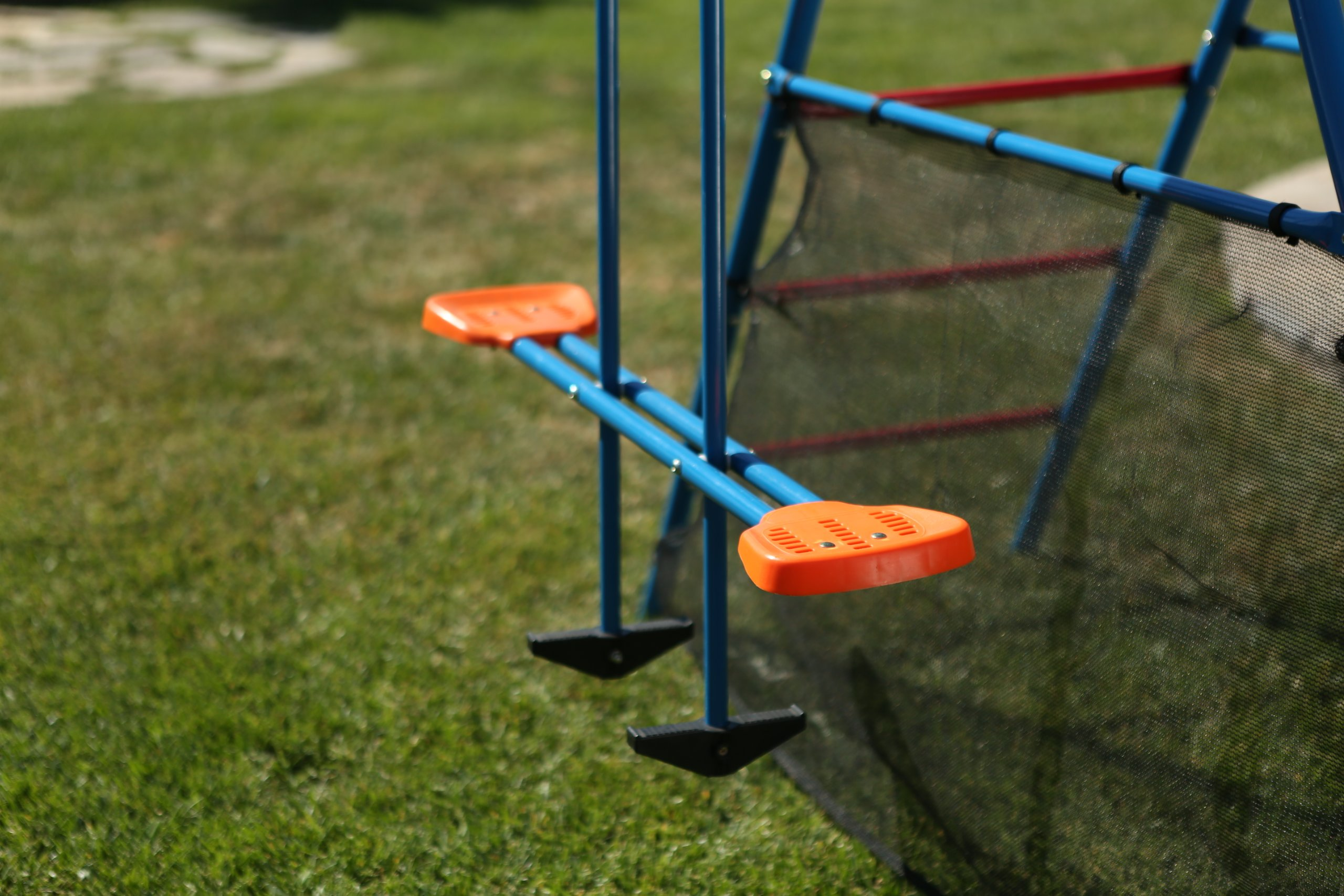 Ironkids Challenge 100 Metal Swing Set with Ladder Climber and UV Protective Sunshade by IRONKIDS (Image #7)