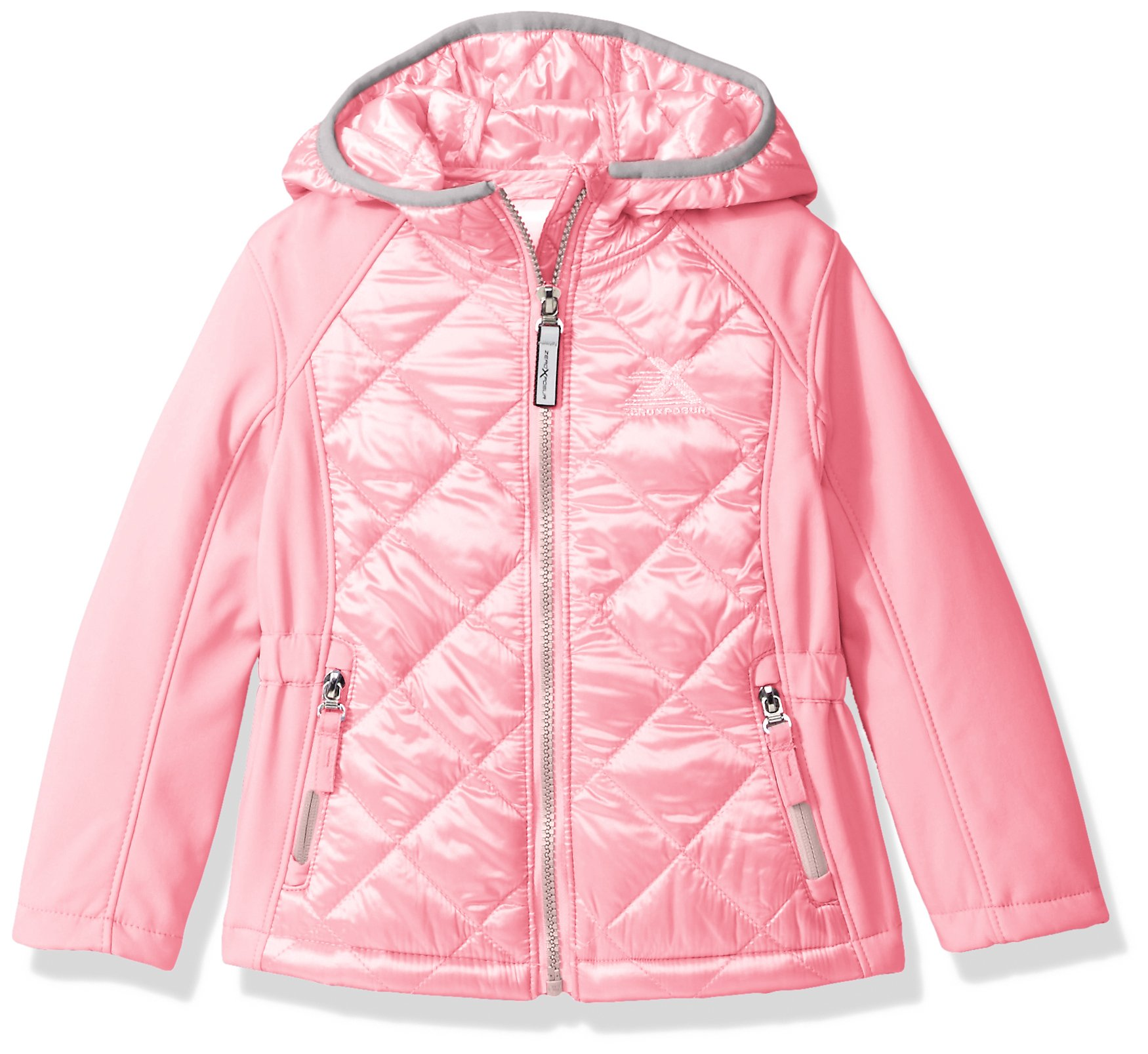ZeroXposur Toddler Girls' Eleanor Transitional Jacket, Lipstick, 2T