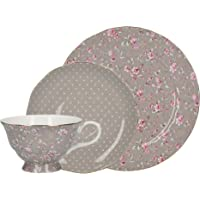 Katie Alice Ditsy Grey Floral Bone China Afternoon