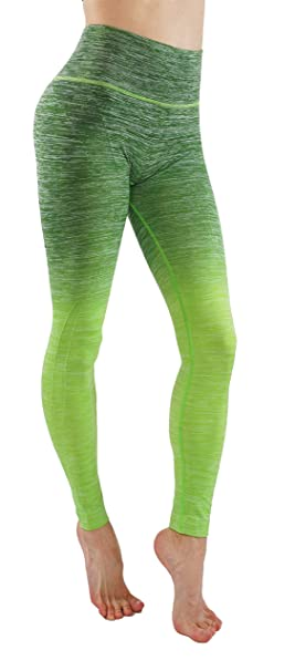 54b5e8d7f4 Women's Flexible Yoga Pants Ombre Leggings Activewaer L704 (S,  A.G.Lime-L704)