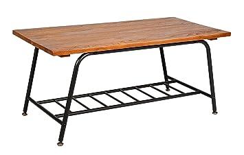 Ts Ideen Design Wohnzimmer Tisch Beistelltisch Ablage Kaffeetisch Anrichte Couchtisch  Japanischer Stil Holz Metall 90