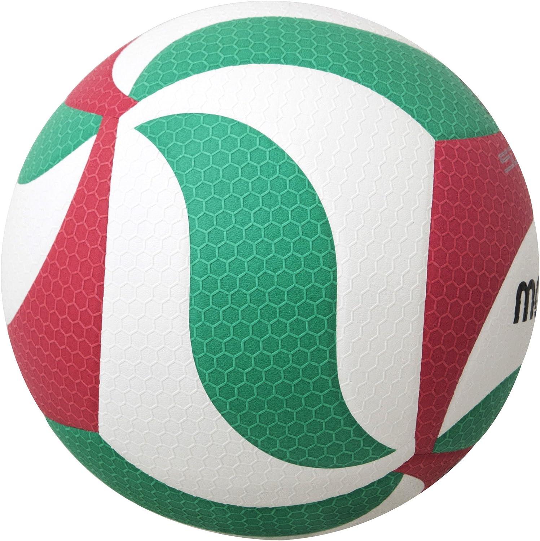 Molten VM5000 - Balón de Voleibol, Blanco, Rojo y verde, Talla 5 ...