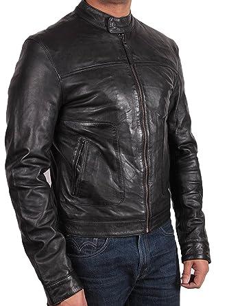 Brandslock Mens Biker Leather Bomber Jacket Coat Designer ▻Best ...
