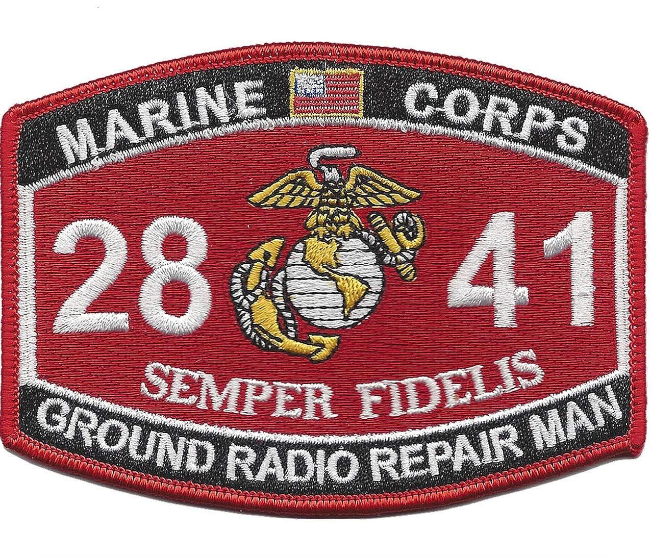 Marine Corps 2841 Ground Radio Repair Man MOS Patch 4.5 x 3.25