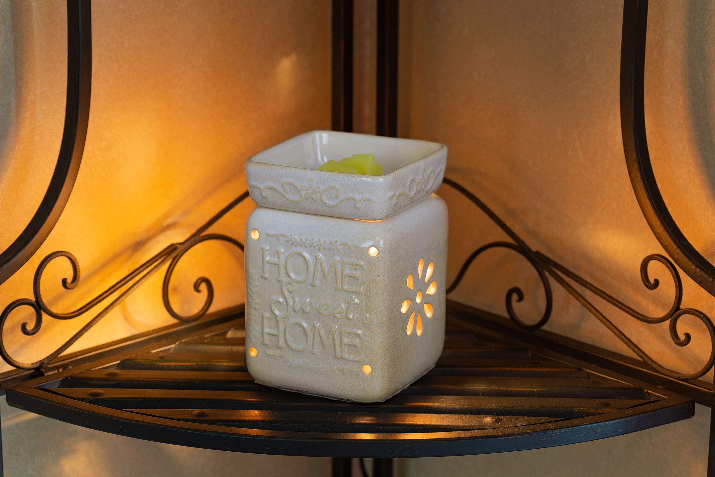 Ceramic Fragrance Warmer (Home Sweet Home) by VP Home (Image #2)