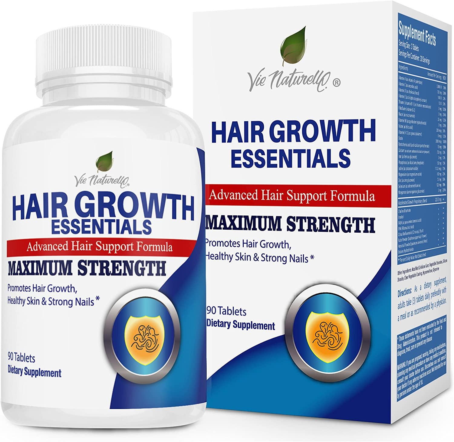 Amazon.com: Hair Vitamins for Faster Hair Growth - Advanced Hair Growth  Essentials Supplement for Hair Loss - 29 Powerful Hair Growth Vitamins &  Nutrients for Rapid Growth for Men and Women 1