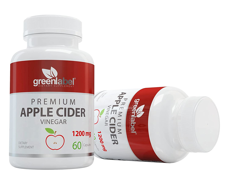 Amazon.com: Vinagre de Sidra de Manzana cápsulas 1200 mg ...