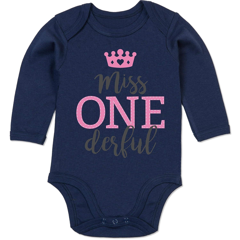 Geburtstag Baby Shirtracer Mrs One Derful Baby T-Shirt Langarm