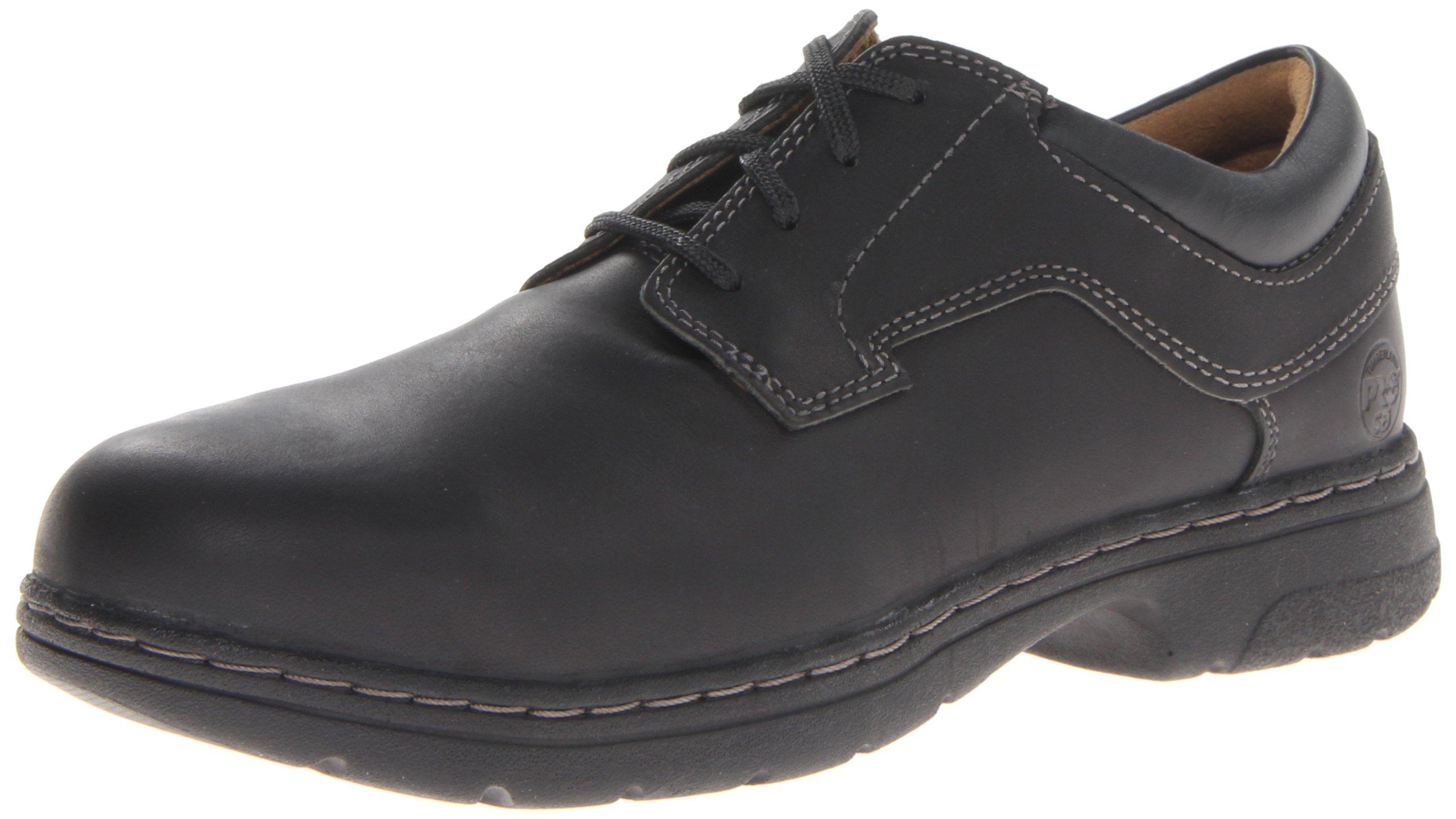 Timberland PRO Men's Branston Black Oxford Work Shoe,Black Full Grain,10 M US