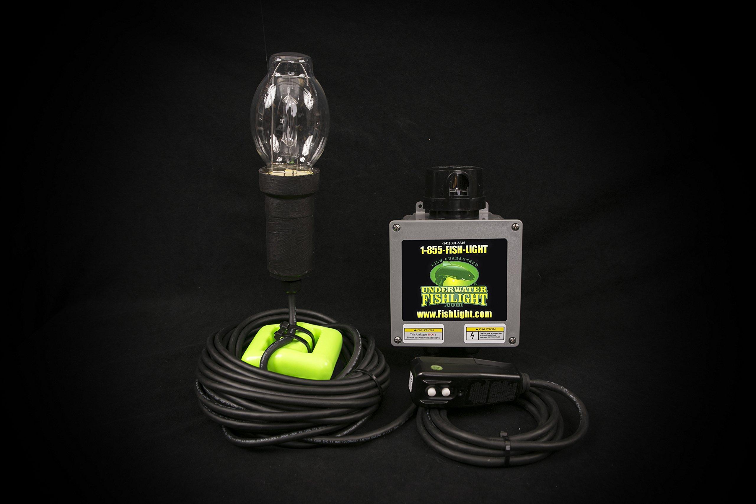 Underwater Fish Light - Single Bulb Underwater Dock Light 50ft Wire