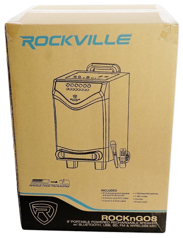 Rockville 8 Portable YouTube Bluetooth Karaoke Machine