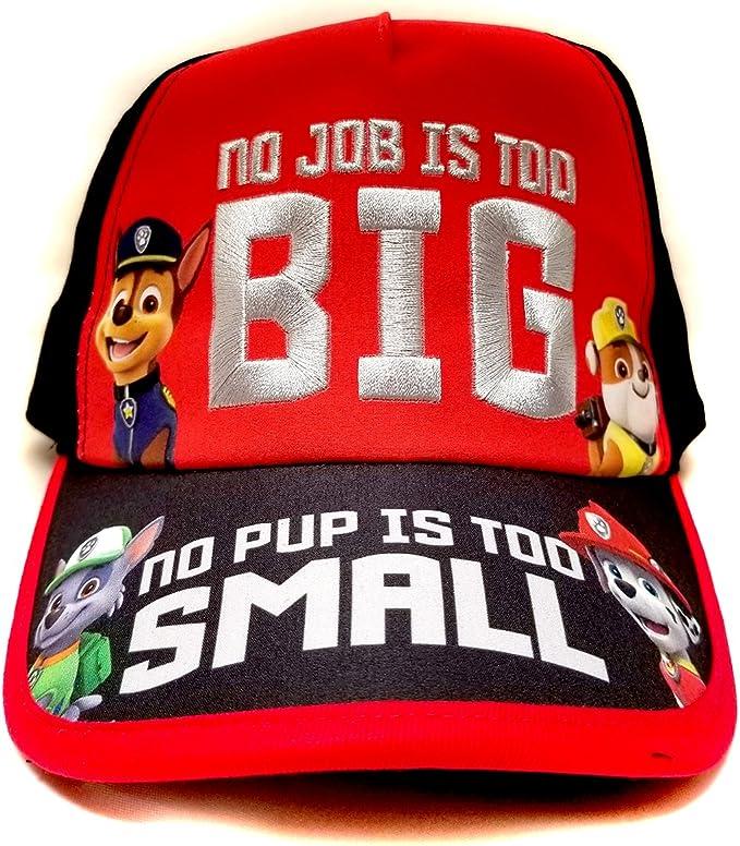Paw Patrol Boys Baseball Hat Red Cap ADJUSTABLE kids childrens toddler gift Toy