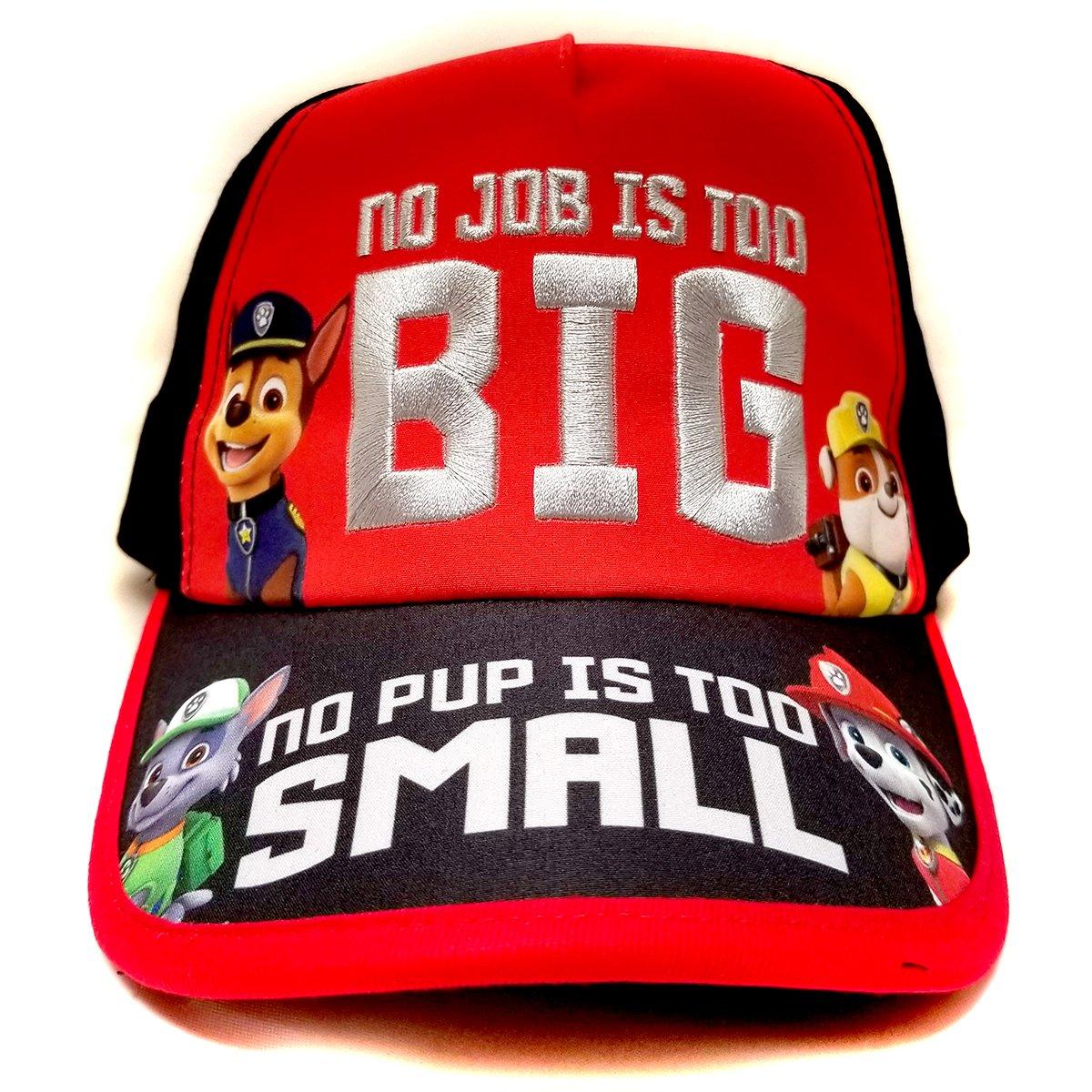 Nickelodeon Paw Patrol ''No Job No Pup'' Kids Children Boys Baseball Cap -Age 4 ~ 10