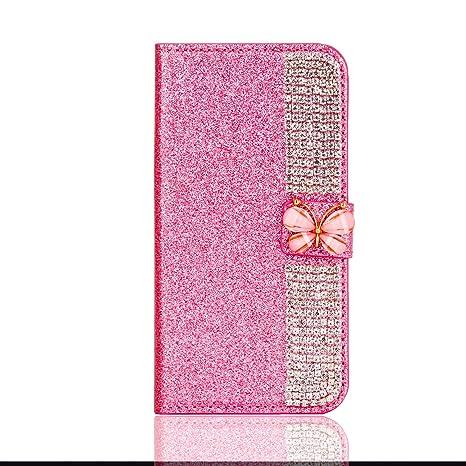 Misteem Coque Galaxy A3 2017, Cierre Magnético Mariposa Estrella Diseño Diamantes Lujo Brillo Bling Patrón