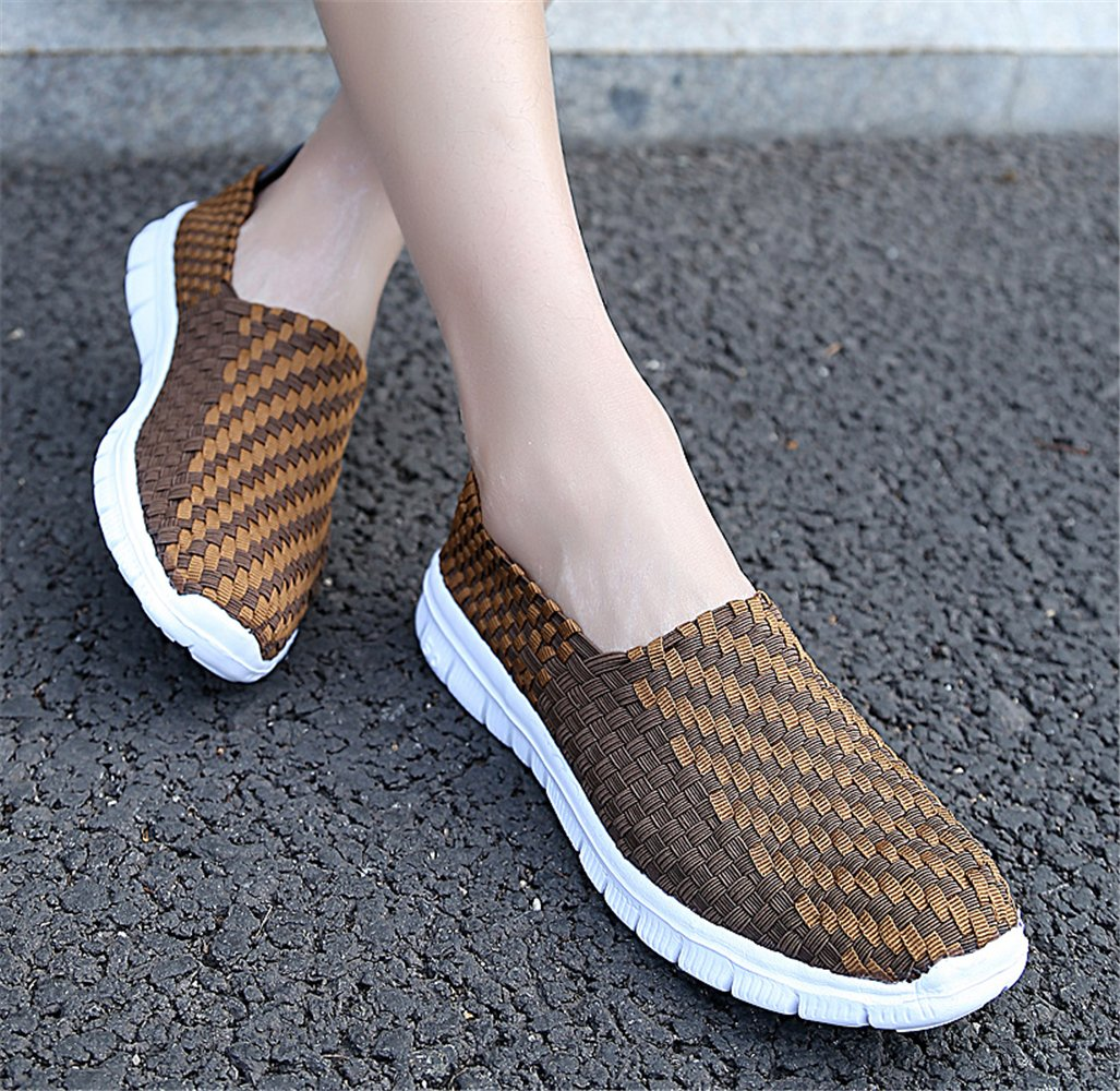 YMY Women's Woven Sneakers Casual Lightweight Sneakers - EU44/US Breathable Running Shoes B07DXNV92Z EU44/US - D(M)10 Men|Brown 6276e1
