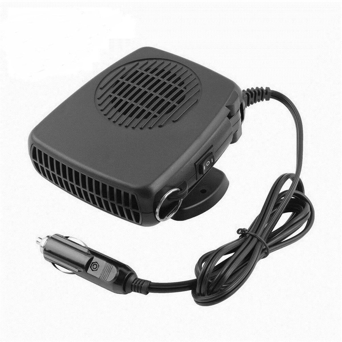 Car Heater, CHELIYA 12V 150W 2 in 1 Portable Auto Ceramic Car Heating Cooling Fan Heater Defroster Demister Black