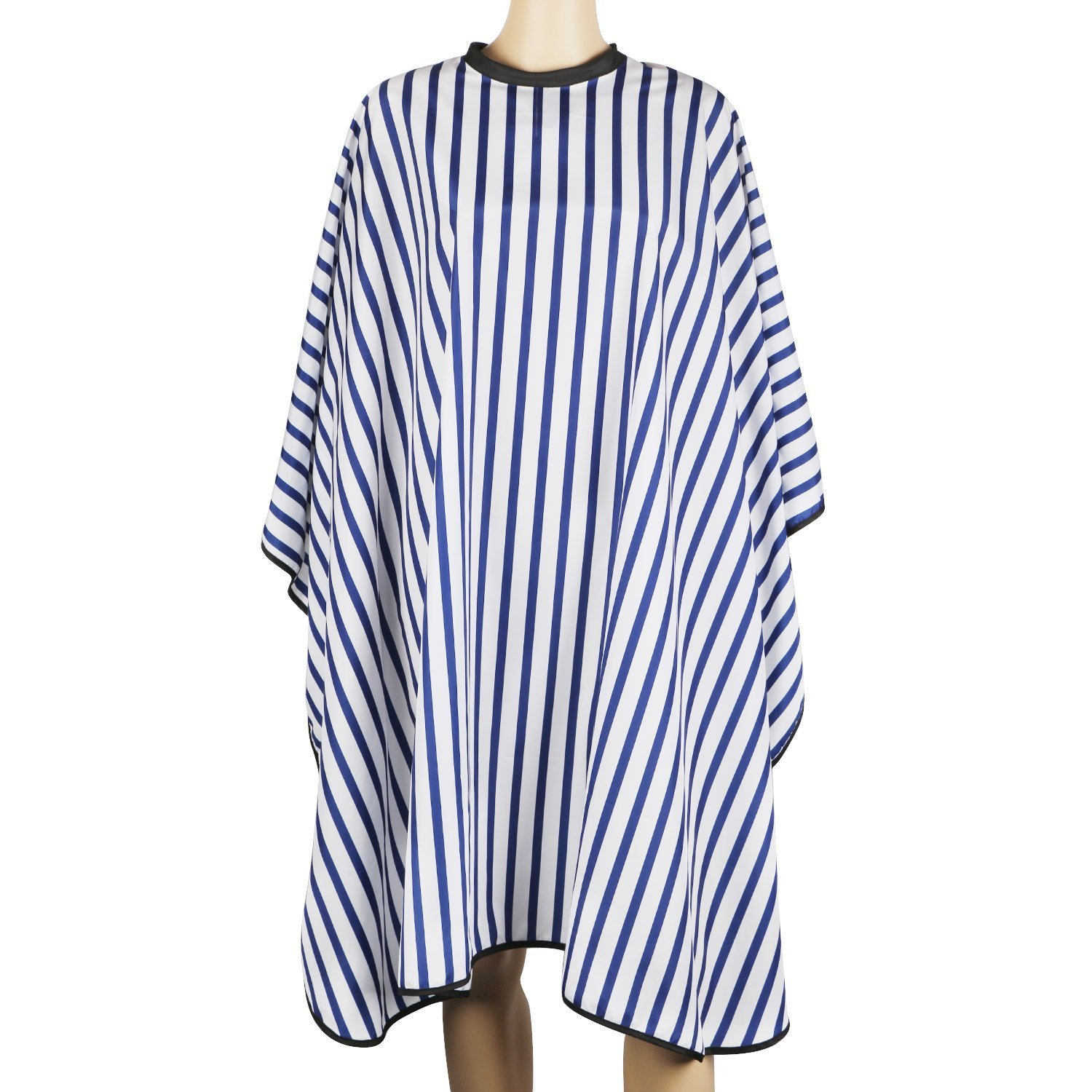 Segbeauty® Blue Striped Hair Cutting Cape for Salon, Waterproof Hairdressing Gown 4.5 Closure Make-up Cape, Silky Long Cloth Wrap for Barber