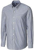 Cutter and Buck MCW09580 Men's Gilman Plaid Shirt, Tour Blue - XXL