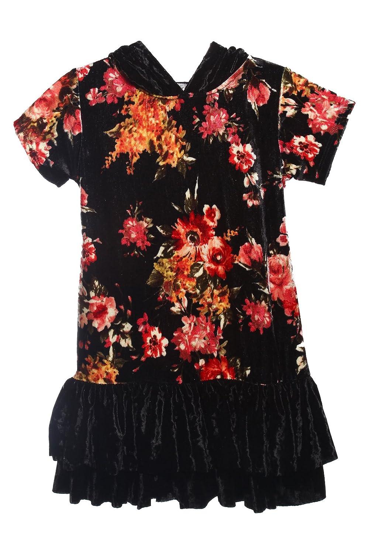iGirldress Girls Back to School Uniform Hoodie Ruffle Velvet Dress Sizes 4-18.5