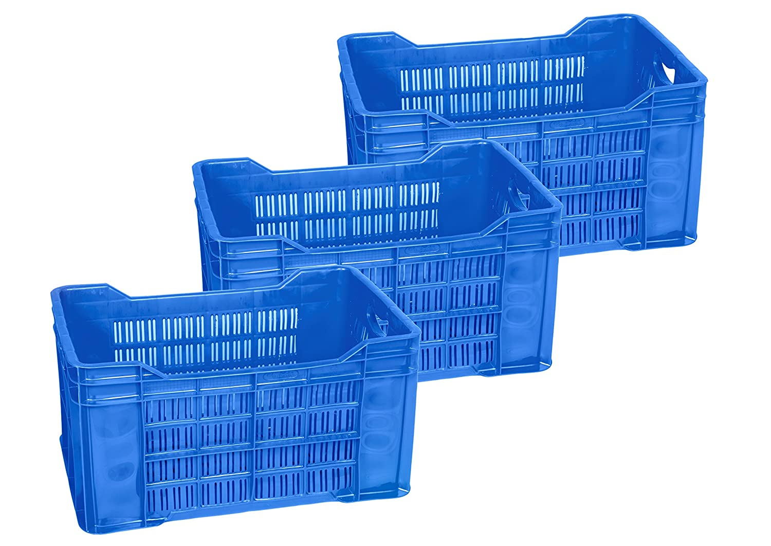 Logic Plastic Crate (Blue) – 3 Pieces