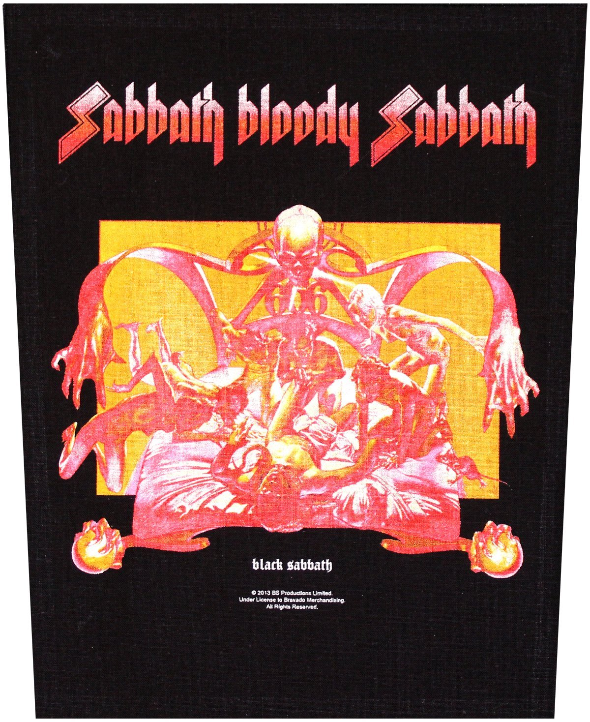 BLACK Sabato schiena in gomma Sabato BLOODY Sabato Back patch in gomma Black Sabbath