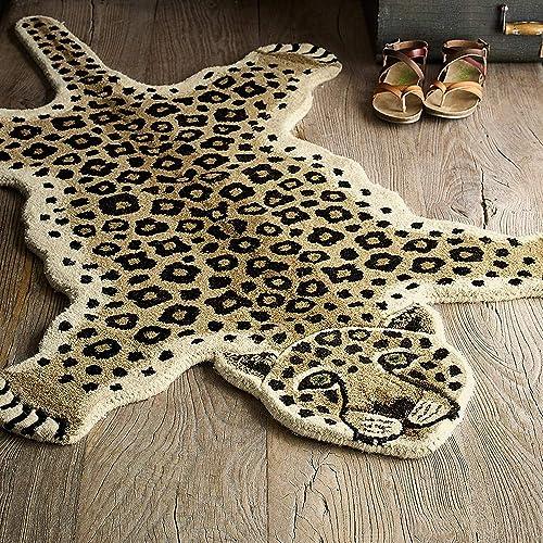 Blackamoor Rugs Leopard Skin Shape 3 x5 Handmade Tufted 100 Woolen Rugs Carpet