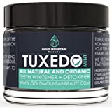 Tuxedo Teeth Whitening Activated Charcoal Powder, All Natural Tooth Whitener with Coconut Charcoal, and Bentonite Clay, Highest Quality Non Abrasive Safe on Enamel (Mint), 1.2 oz