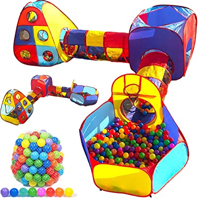 Playz Toddler Playhouse Jungle Gym Play Tent and 500 Ball Pit Balls Bundle: Sports & Outdoors