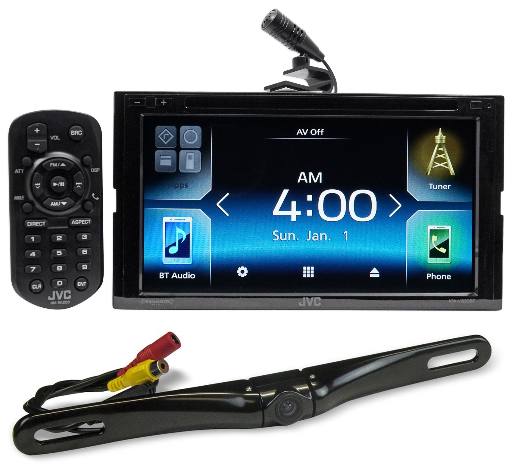 JVC KW-V830BT 6.8'' Car DVD Bluetooth Receiver Android, Carplay, Dual USB+Camera