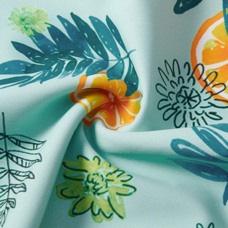 UNICOMIDEA Kid Girls Swimsuit Striped Ruffle One Piece Bathing Suit Funny Floral Print Swimwear for 4Y-13Y