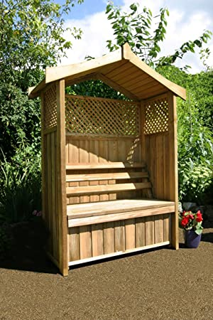 Zest4Leisure Dorset - Glorieta con caja de almacenamiento, madera ...