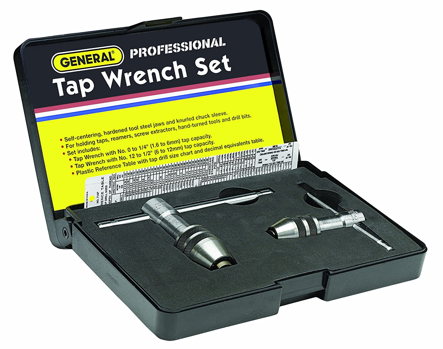 General Tools 167 Professional Tap Wrench Set - Pipe Taps - Amazon.com