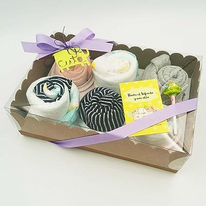 Regalo Muy Original para Recién Nacidos | 6 Cupcakes con: 1 BODY, 1 GORRITO