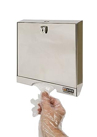 jurine 957600 dispensador inoxidable de guantes PE con cerradura