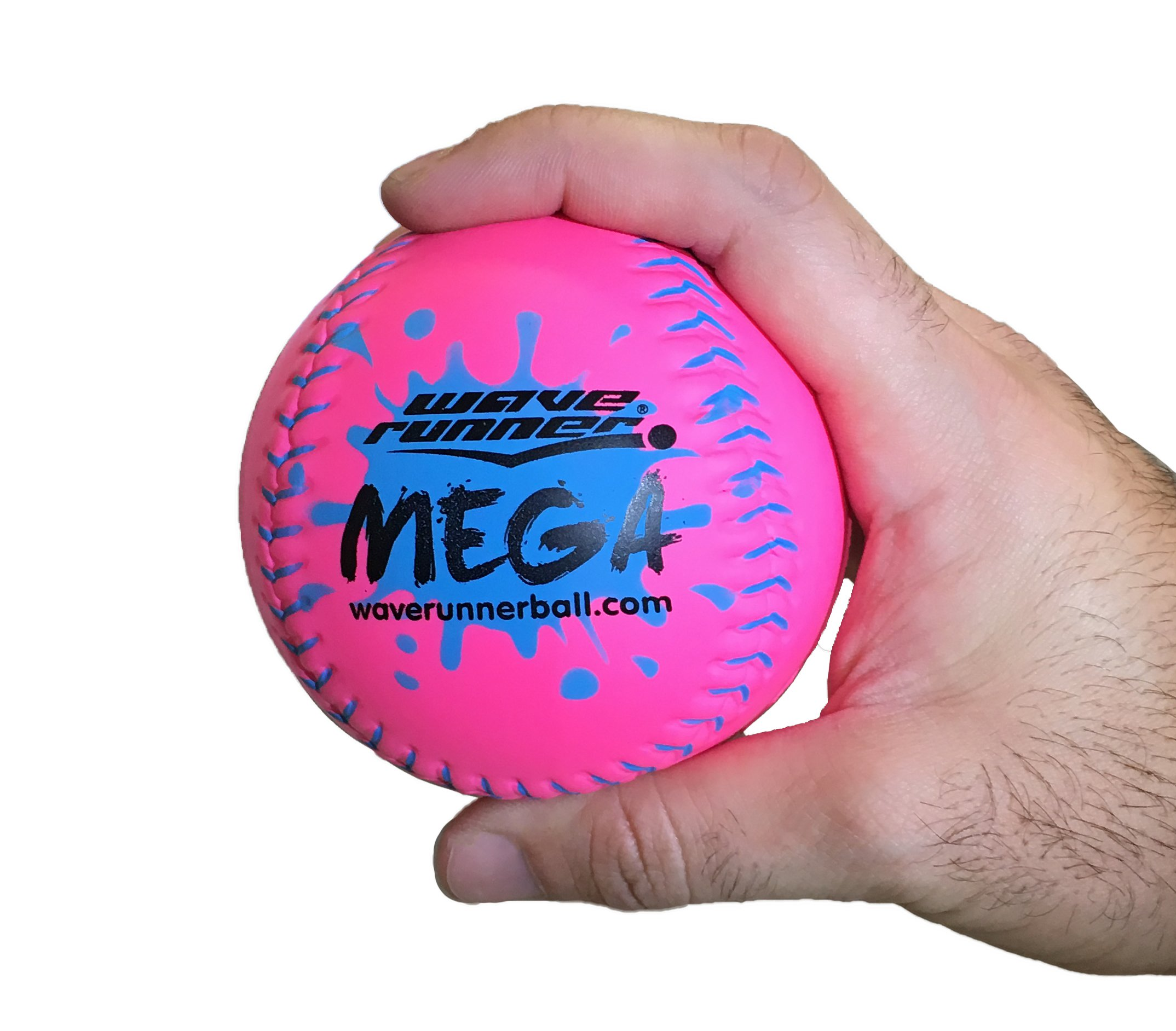 Wave Runner Mega Sports Miniature Basketball 3.5'' Waterproof Bouncing Ball for All Ages (Pink)